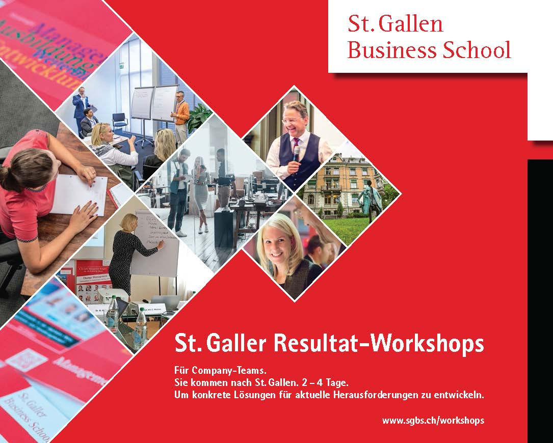 St. Galler Resultat-Workshops